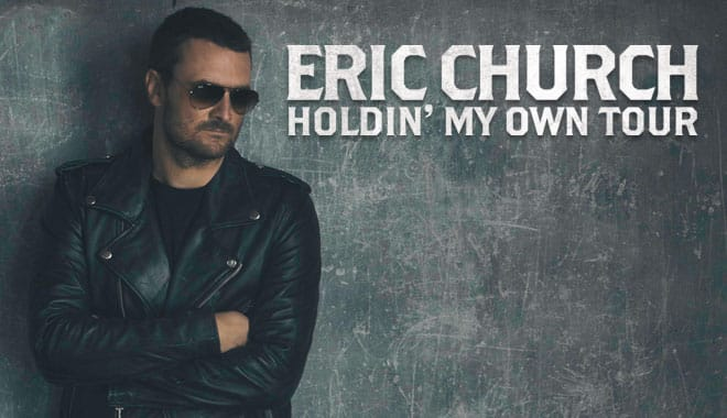 eric church announces,eric church,holdin' my own,'holdin' my own' tour details